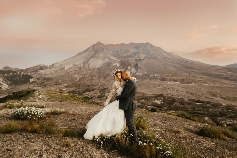 Elopement at Harry's Ridge, Mt. St. Helens Washington