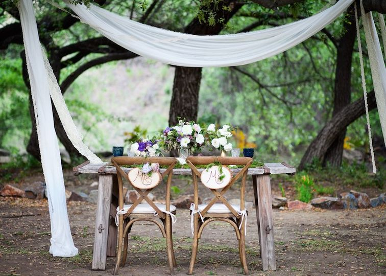 Secluded sweetheart table