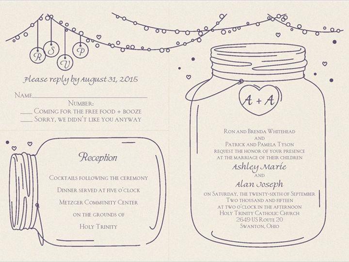 Tmx 1451857208547 Ashley Whitehead   Alan Tyler Wauseon, OH wedding invitation