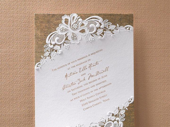 Tmx 1451857227505 Rustic Battenburg Wauseon, OH wedding invitation