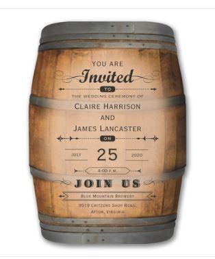Tmx Barrel Invite 51 127445 Wauseon, OH wedding invitation