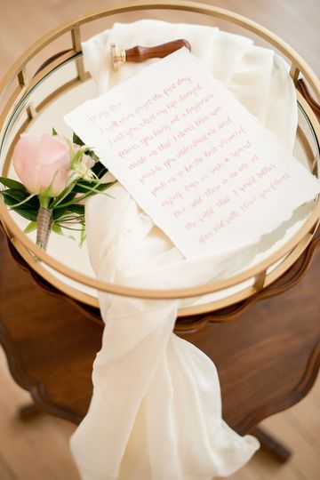 A love letter from the bride to the groom.