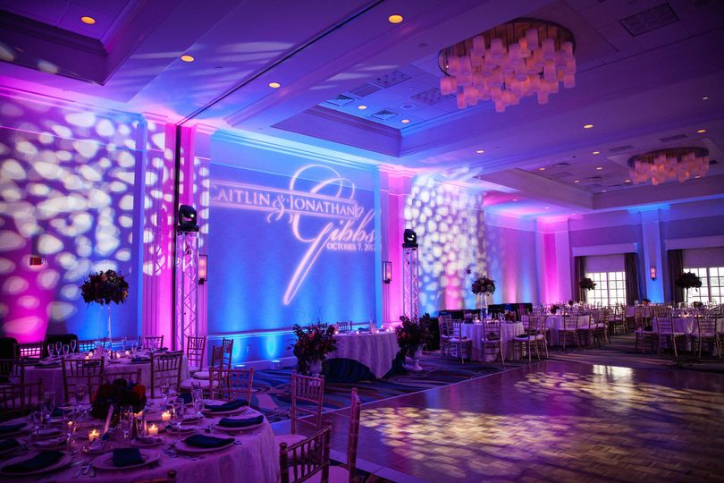 wedding gobo uplights wash