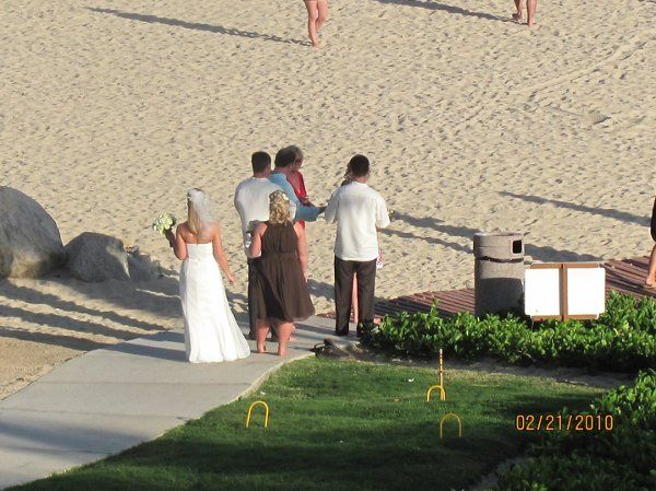 Dreams Los Cabos beach wedding ceremony