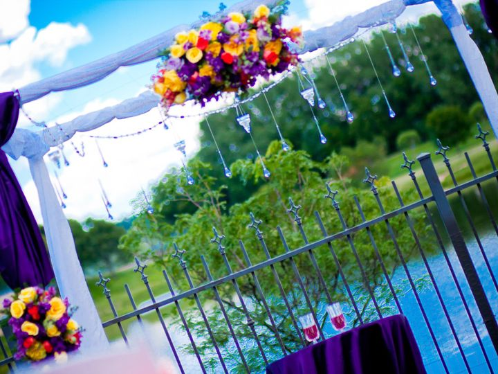 Tmx 1451390397408 Purple White Yellow And Cyrstals Chuppa  Wedding P Denver wedding eventproduction
