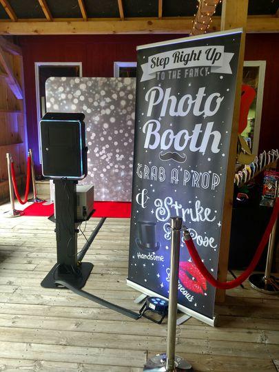 The booth setup