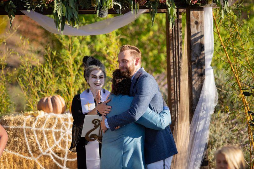 Zoom/Halloween Wedding