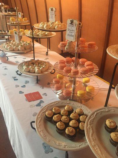 Eye-catching dessert table