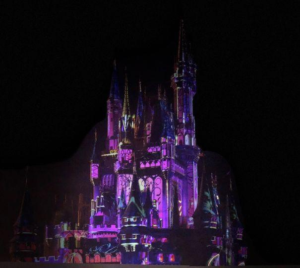 Purple Lit Castle