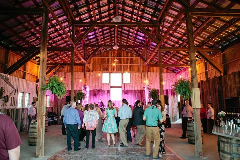 STF barn interior (used for dancing, drinks, and desserts for this event)