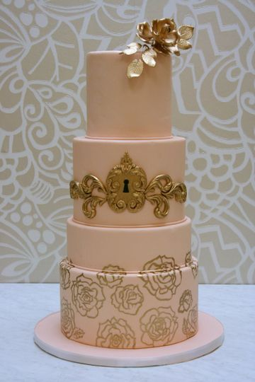 desserts by dana peach and gold