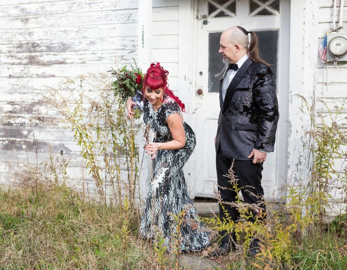 Bride and groom formal