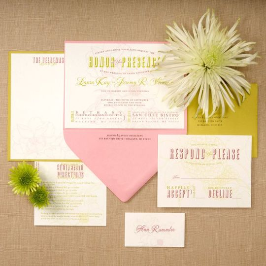 Laura and Jeremy wanted their invitations to be an expression of their interests as a couple. Jeremy...