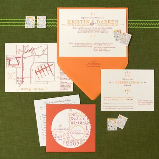 Kristin and Darren wanted a modern and clean invitation for their wedding. Typography, layout and a...