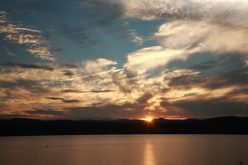 Mother Nature provides spectacular sunsets over the Adirondack Mountains as an added bonus!