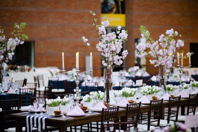 long bridal party table in Atrium