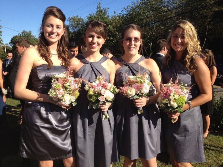 Tmx 1358299080731 Girlswithanemonesgreenhydrangeaastilbegardenroses Wakefield, RI wedding florist