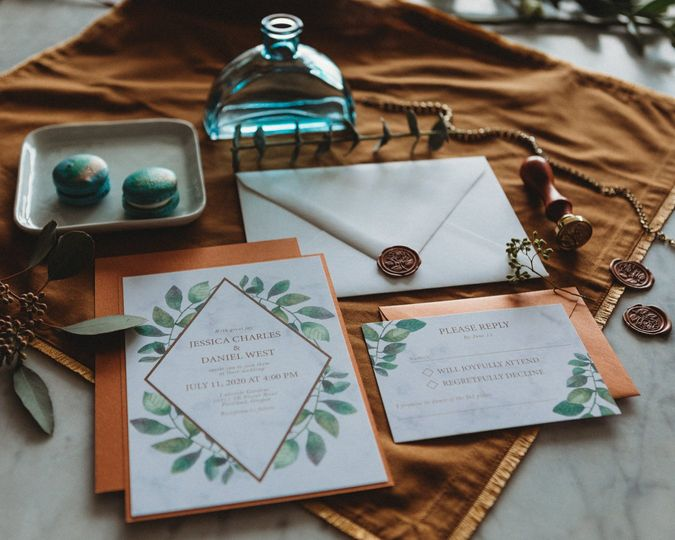 Copper and marble suite