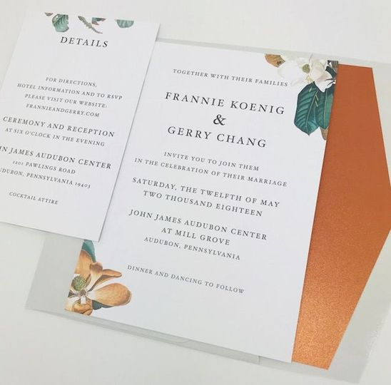 Botanical minimalist invitation