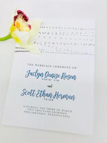 Invitations w/script font