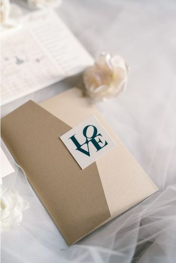 Brown and cream envelope