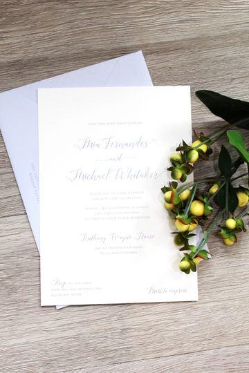 Periwinkle Invitation Set