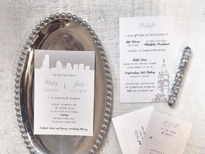 Tmx 1468532186312 Shannon Philadelphia, PA wedding invitation