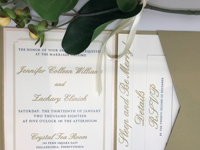 Tmx 1522779211 284438917f704b4a 1522779210 Fdadda9404ac01ae 1522779210770 1 IMG 5232 Philadelphia, PA wedding invitation