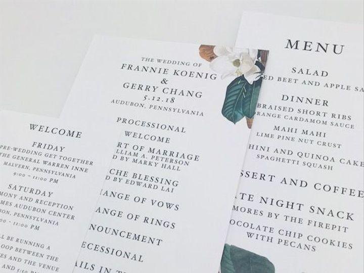 Tmx 1527629897 Ee19e417c6939d55 1527629896 Ef1b3b05357c6c0d 1527629896153 2 Koenig Dayofpieces Philadelphia, Pennsylvania wedding invitation