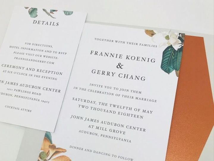 Tmx 1527629898 Eb0ed12f7be66d8d 1527629897 F96a33e2f0894651 1527629896153 3 Koenig Invitation  Philadelphia, PA wedding invitation