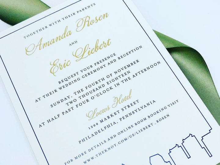 Tmx Rosenliebert Pic 51 372645 Philadelphia, PA wedding invitation