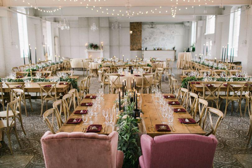 Reception setup - Aimee Jobe Photography