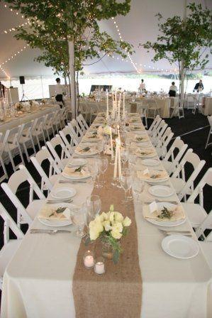 Long reception table setup