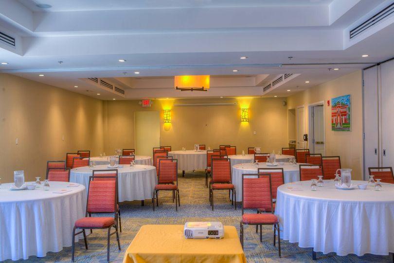 A banquet setup