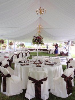 Crystal City Party Center Tent Wedding