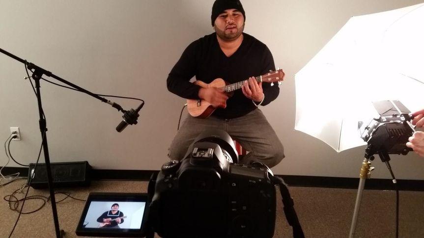 Matt with his ukulele