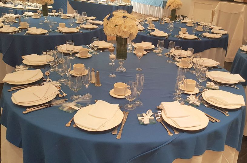 Wedding Table Setting @ The Richmond Hotel, Staten Island, NY