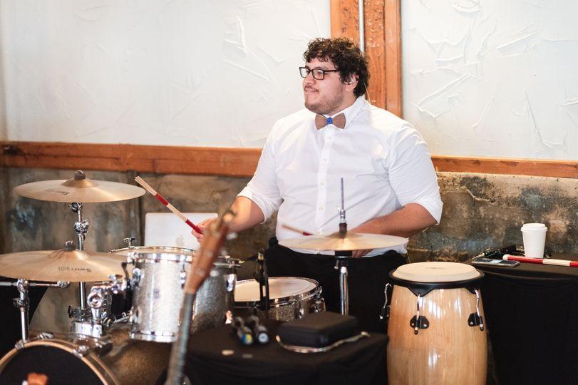 Adrian on drums