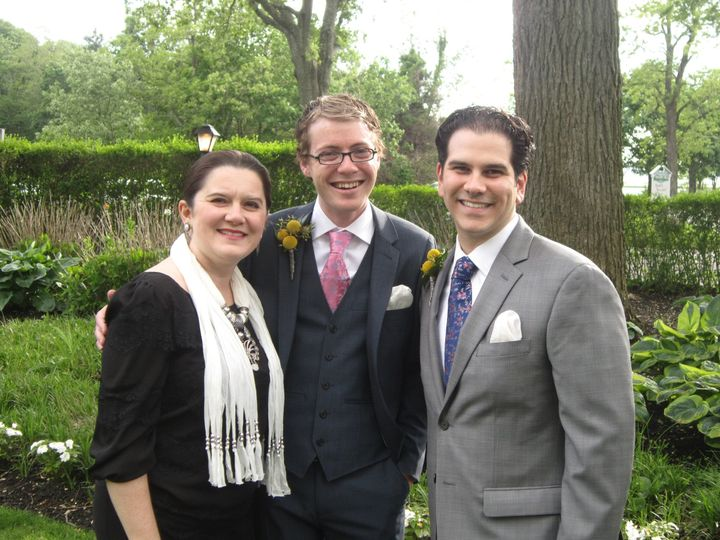 The reverend and the newlyweds