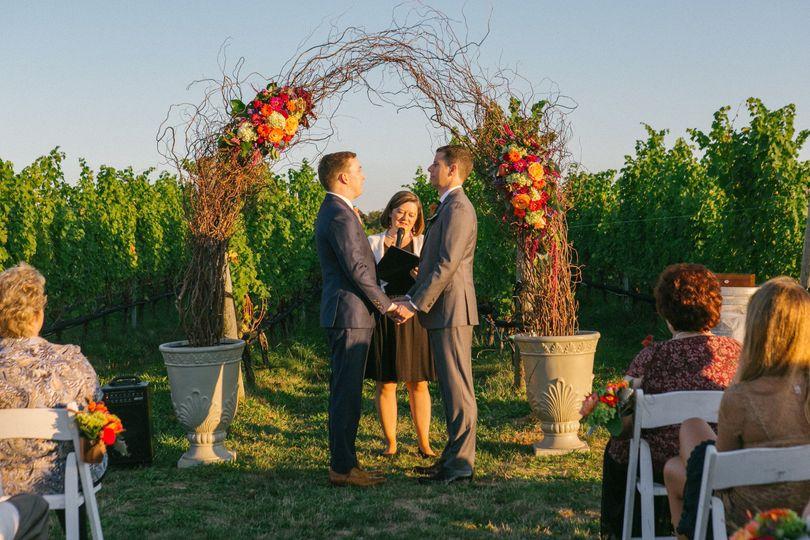 Wedding on a vineyard