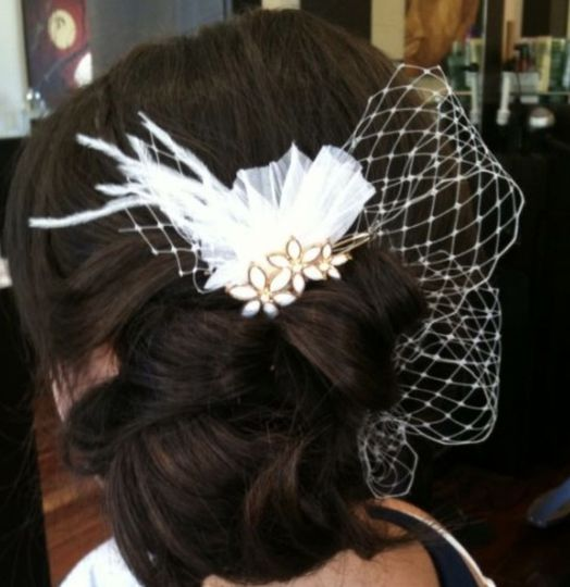A vintage inspired updo for this wonderful bride.