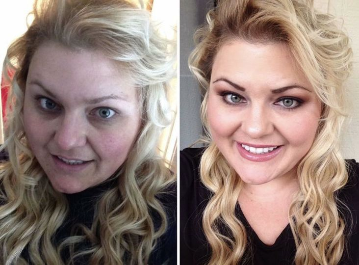 Before and after airbrush makeup. Natural looking and lasts up to 12 hours! This makeup won't smudge...