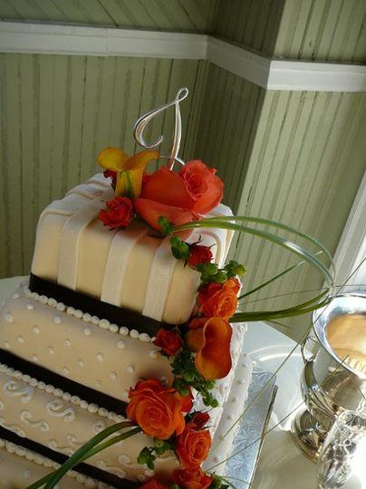 Close up of cake top