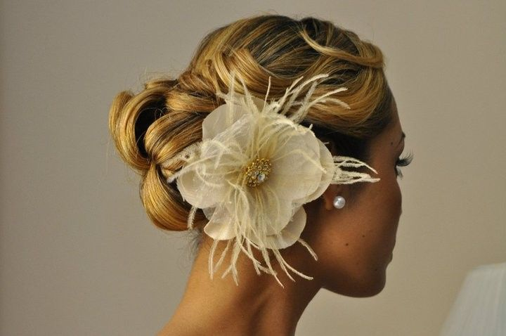 Flower hair decoration