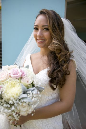 Bride in her outfit