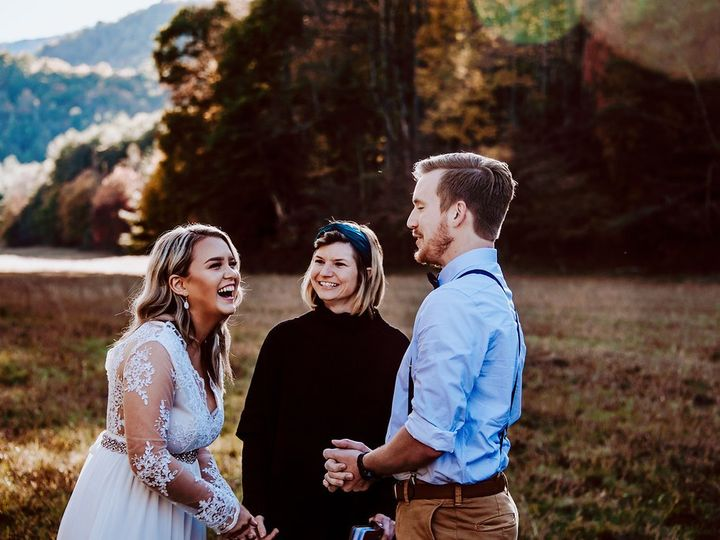 Tmx Amber And Tyler5 51 1050745 158439718396396 Asheville, NC wedding officiant