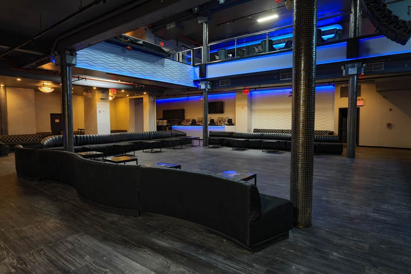 Main floor lounge set up