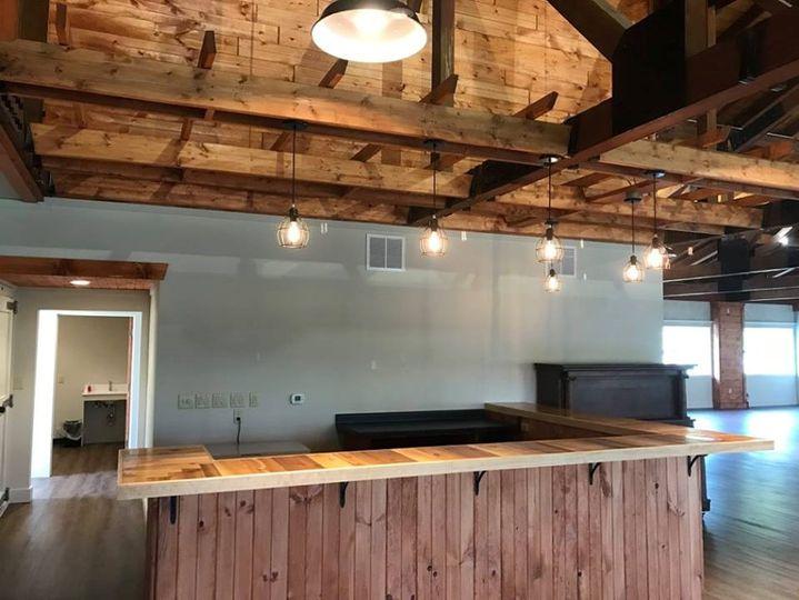 A bar space