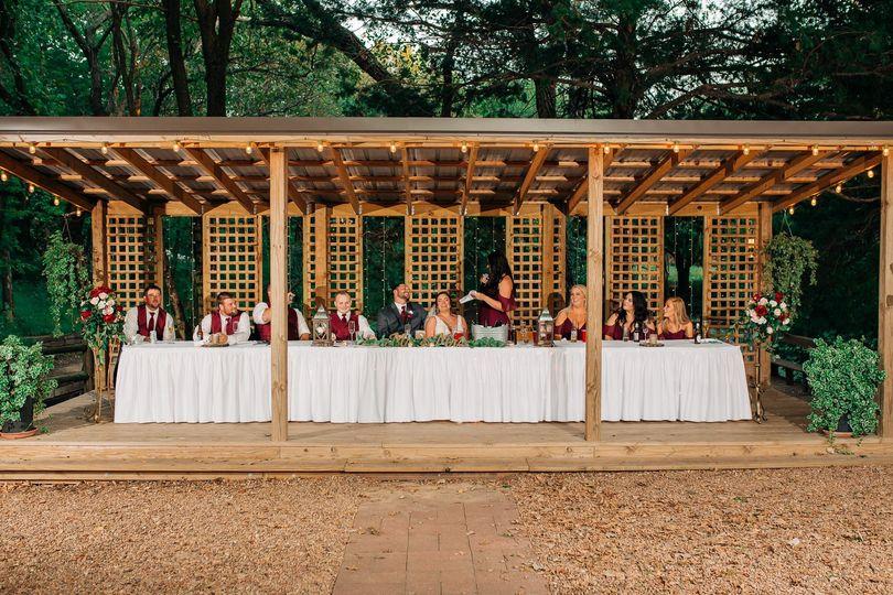 Head table on Cabana