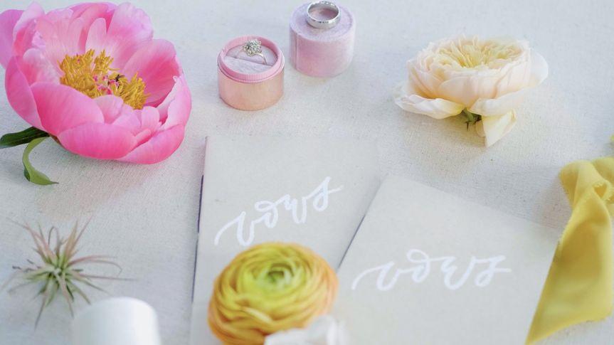 Floral wedding photo